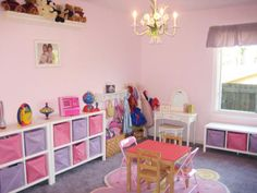 great idea for play room...Sugar and Spice Playrooms for Girls From Rate My Space : Rooms : Home & Garden Television