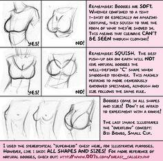 Tutorial/anatomy advice spread created by meghanhetrick of deviant art.