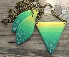 Inspiration for polymer clay jewelry.