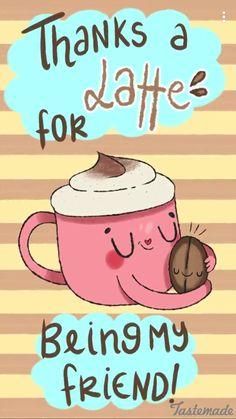 Latte Food Pun  C B Punny