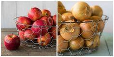 Une corbeille de fruits ou de légumes - 20 Réalisations géniales à faire avec du grillage à poule