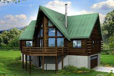A-Frame House Plan - Eagle Rock 30-919 - Rear Elevation