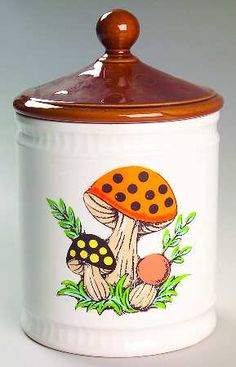 Merry mushroom coffee canister