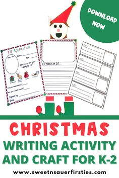 Are you looking for fun and engaging hands-on writing activities for Christmas? Check out these creative writing prompts for students! This Christmas writing activity and craft is perfect for students in kindergarten through third grade. Students can practice how-to writing, narrative writing, and creative writing. These elf writing activities make for the perfect Christmas bulletin board. You will find different writing prompts you can use at writer's workshop, morning work or early finishers.