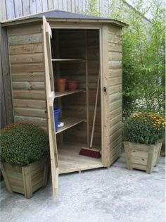 Small Garden Tool Shed, Pergola, Garden Solutions, Backyard Sheds, Tool Sheds, Garage Storage, Outdoor Storage, Outdoor Structures, Interior Design