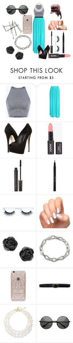 """""""Retro summer"""" by jayladenise ❤ liked on Polyvore featuring Jane Norman, Giuseppe Zanotti, Laura Mercier, Stila, Incoco, Rifle Paper Co, Linea Pelle, The Limited, MLC Eyewear and hihi123lol"""