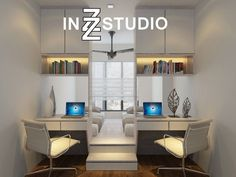 Usually, minimalistic interior is not something people associate with space saving solutions. But while minimalistic approach demands fewer and fewer Murphy Bed Ikea, Murphy Bed Plans, Space Saving Bedroom, Small Room Bedroom, Raised Platform Bed, Stylish Bedroom, Decorate Your Room, Minimalist Interior, Interior Design Singapore