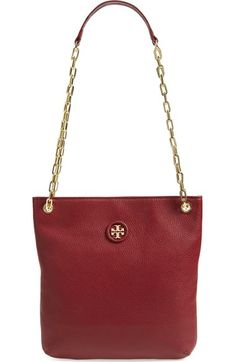 Tory Burch Convertible Leather Crossbody Bag (Nordstrom Exclusive) in Bark