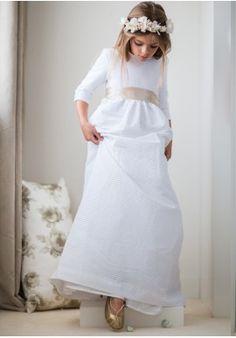 "Vestido ""Canutillo blanco"""