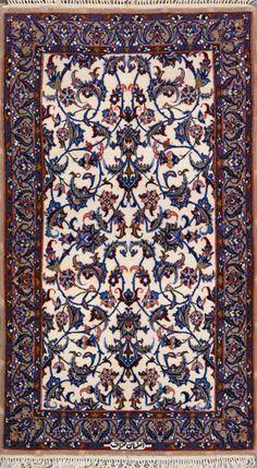 Esfahan Persian Rug, Buy Handmade Esfahan Persian Rug 2 4 x 4 0, Authentic Persian Rug $1,450.00