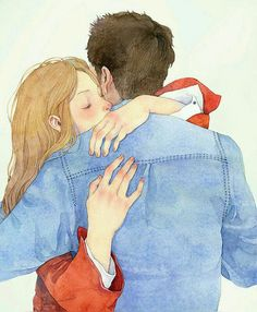 Ens fonem en una gran abraçada / Nos fundimos en un gran abrazo / We melted into a hug Art And Illustration, Illustrations, Anime Love Couple, Couple Art, Couple Drawings, Art Drawings, Cute Love, Anime Couples, Love Art