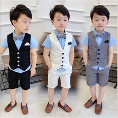 1 boys 4pc toddler suits Dockers Vest Suit Ring Bearer Church Easter Suit New