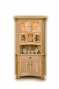 corner hutch, solid vintage oak repainted with chalk paint french