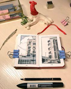 Alexandra Shevchenko Pencil, Polaroid Film, Ink, Paper, India Ink