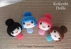 Amigurumi Kokeshi Dolls pattern by Sayjai Thawornsupacharoen