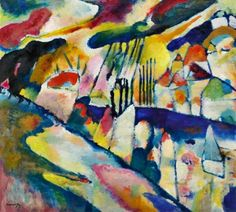 Kandinsky. A talented synesthete. Someone once asked me 'if you were a house in this painting, which one would you be?'.
