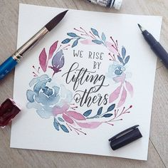Our favorite colours berry red and blue for yesterday's #AprilWreathChallenge (hosting it together with @gemsandletters ) and quote for #showersofkindness with @kryslauren_loveletters @sketchyminx @alieletters @astrokeofgenius_ . . . ✏: Tombow fude hard : Sonnet studio watercolors, Winsor&Newton : Canson moulin du rouge (300gsm) . . . #letteringchallenge #lettering #handlettering #brushcalligraphy #brushlettering #moderncalligraphy #calligraphy #linedrawing #drawing