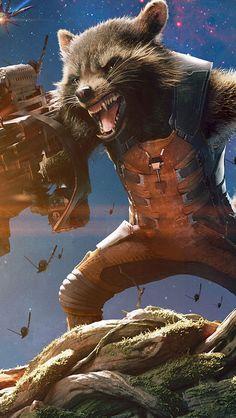 Guardians Of The Galaxy Rocket Raccoon Groot Iphone Wallpaper