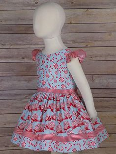 6dcf5ebf742ba Girls Candy Cane Dress, Christmas Dress, Red, Peppermint, Holiday, White,  Clothing, Boutique, Party, Sleeveless, Toddler, Tween, Big, Girls