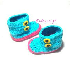 Baby booties for baby girl