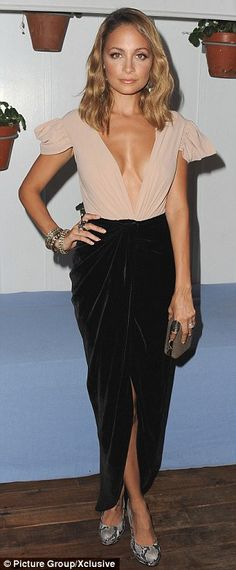Nicole Richie gets risky in two VERY revealing dresses during a fashionable few days | Mail Online