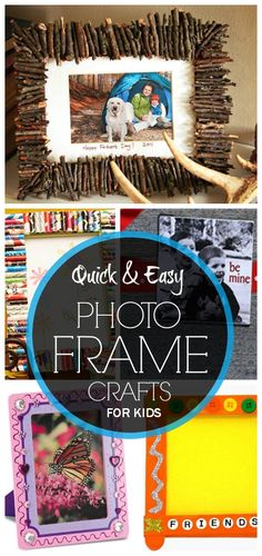 Photo Frame Craft Ideas For Kids: Your kids may feel bored of sitting at home without doing any interesting activities.here is our collection of photo rame crats for your kids. Photo Frames For Kids, Photo Frames Diy, Photo Frame Ideas, Picture Frames, Papa Tag, Marco Diy, Diy For Kids, Crafts For Kids, Picture Frame Crafts