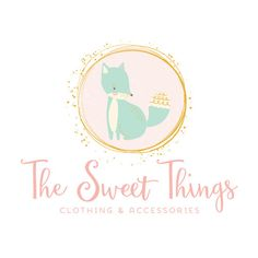 Premade Logo - Pretty Fox Premade Logo Design - Customized with Your Business Name!