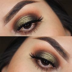best ideas eye shadow for brown eyes glitter make up Eyeshadow Tips, Eyeshadow For Brown Eyes, Blending Eyeshadow, Natural Eyeshadow, How To Apply Eyeshadow, Green Eyeshadow, Makeup For Brown Eyes, Eyeshadow Looks, Eyeshadow Makeup