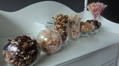 Amy's Allsorts Candy Cart  Selection of Fruit and Nuts including: blueberry yoghurt mix, salted mix, luxury nut mix, tropical mix and sugared almonds. Perfect for an alternative cart.