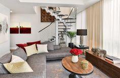 Living Room and stair atrium