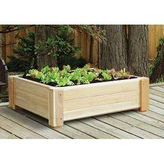 "Cedar Square 12.5"" Raised Container Garden Cedar Creek http://www.amazon.com/dp/B003T2AIV2/ref=cm_sw_r_pi_dp_ZFLBvb09WM823"