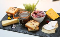Selection of Simon's favorite biscuits, fruit loaf, celery and iced grapes. Cheese Biscuits, Places To Eat, Fine Dining, Celery, Food And Drink, Treats, Homemade, Dinner, Fruit