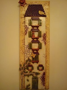 ,,,, Clay Projects, Clay Creations, Clay Art, Mixed Media Art, Ladder Decor, Decoupage, Polymer Clay, Resin, Tiles
