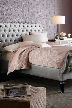 This contains: Amity Home Tudor Queen Quilt #luxurybedding #bedding #designerbedding Tudor, Amity Home, Luxury Bedding Sets, Queen Quilt, King Beds, Bed Design, Linen Bedding, Duvet Covers, Master Bedroom