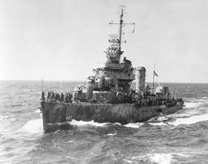 USS Aaron Ward (DD-483) Gleaves-class destroyer 1,630 tons. 4 March 1942, Sunk 7 April 1943.