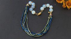 Opale Collana  Collana Perline Boemia e Opale di Frammentidivetro