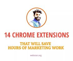 14 Chrome Extensions That Will Save Hours of Marketing Work. Below is the list 👇👇 1. Grammarly 2. buzz sumo 3. keyword surface 4. Moz bar 5. similar web 6. redirect path 7. SEO quack 8. google page speed insight 9. SEO meta in one click 10. hunter 11. boomerang 12. link clump 13. liner 14. one click extension manager Google Page, Chrome Extensions, Grammar, Seo, Insight, Management, Surface, Marketing, Link