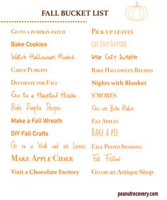 Fall Bucket List 201