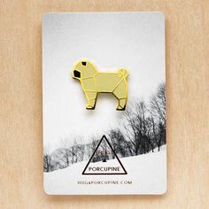 ▲ Hug A Porcupine – New Origami Brooches (Pug) ▲  http://www.hugaporcupine.com/collections/origami-brooches/