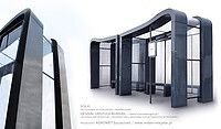 SOL - bus stop design by Urszula Burgieł