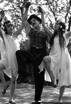 fuckyeahchaplin:  Charlie and the Nymphs in Sunnyside c.1919  copyright; Roy Export co.