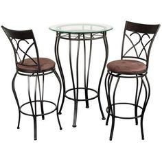 Home Source Industries Fancy Bistro Decorative Metal Pub Table with Glass Top and 2 Stools, Black by Home Source Industries, http://www.amazon.com/dp/B000Z79QW6/ref=cm_sw_r_pi_dp_tiWfqb0ZE15DD