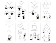 Hermes Knotting Cards: how to fold, twist, and tie your scarf into a striking, statement-making accessory.