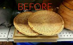 s make wicker trendy again with these brilliant ideas painted furniture Before Thrift store paper plate holders & Repurpose: wicker plate holders (ReFab Diaries) | Plate holder ...