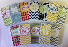 monogrammed phone case.