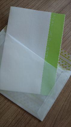 Hochzeitskarte mit Transparentkurvert