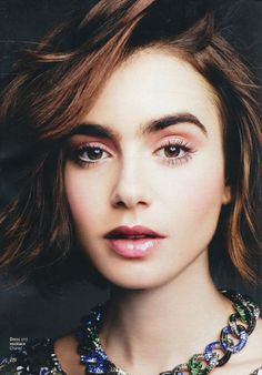 Lily Collins – Glamour Magazine (UK) May 2015 Issue