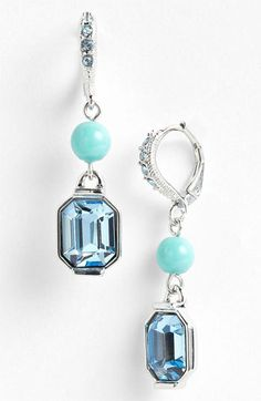 Givenchy 'Lark' Crystal & Bead Double Drop Earrings available at #Nordstrom