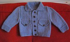 Baby 'denim' jacket http://www.ravelry.com/patterns/library/jean-jacket-sets