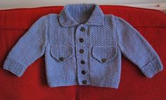 Baby 'denim' jacket http://www.ravelry.com/patterns/library/jean-jacket-sets